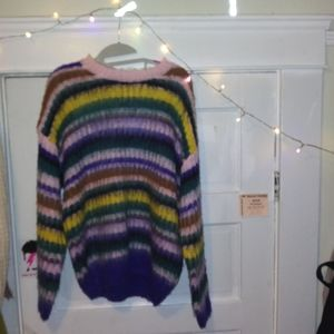 *#NEW#fuzzy#stripes#* forever 21 -->size large